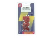 Lot de 10 Fusibles 10 A 2 Fiches Rouge Ref HF600430 - Casteels