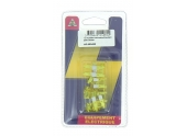 Lot de 10 Fusibles 20 A 2 Fiches Jaune Ref HF600450 - Casteels