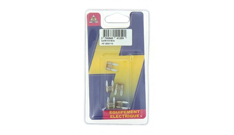 Lot de 5 Fusibles 6 A Mini 2 Fiche Beige Ref HF600110 - Casteels