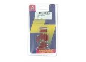 Lot de 10 Fusibles  Steatites 25 A Rouge Ref HF610182 - Casteels