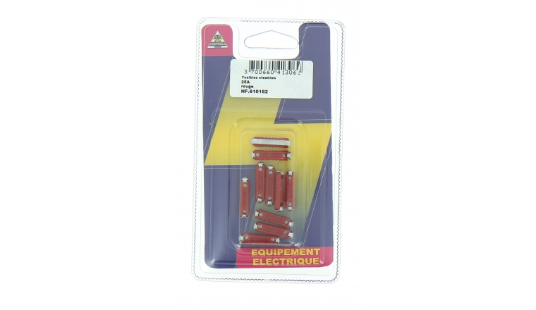 Lot de 10 Fusibles  Steatites 25 A Rouge Ref HF610182 - Casteels