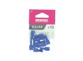 Lot der 10 Clips à Sertir Isolés Bleu pour Fil de 1.5 à 2.5 mm² Ref 711046 - Debflex