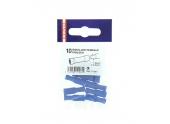 Lot de 10 Douilles à Sertir Femelle Pré-isolées Bleue pour Fil de 1.5 à 2.5 mm² Ref 711061 - Debflex
