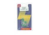Lot de 5 Fusibles 30 A Mini 2 Fiches Vert Ref HF300170 - Casteels