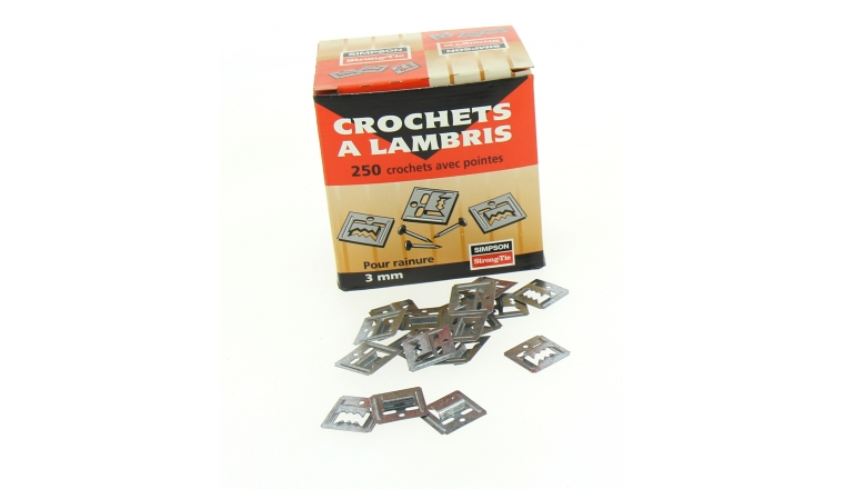 Boîte de 250 Clips à lambris avec Clous inclus Ref CLIP3/250 - Simpson Strong-Tie