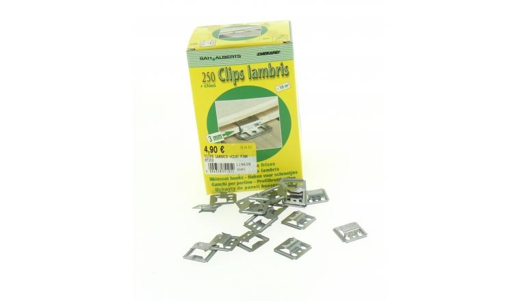 Boîte de 250 Clips à Lambris avec Clous Inclus