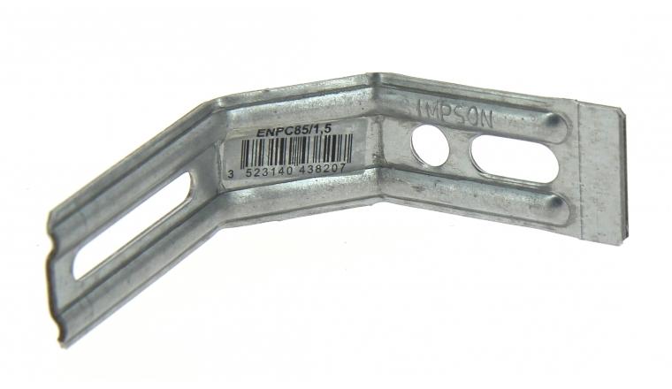 Equerre Nervurée à Pan Coupé en Acier Galvanisé 85x30x81x1.5 Ref ENPC85/1.5 - Simpson Strong-Tie