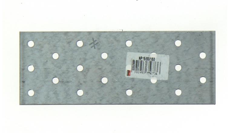 Plaque Perforée en Acier Galvanisé 60x160x1.5 Ref NP15/60/160 - Simpson Strong-Tie