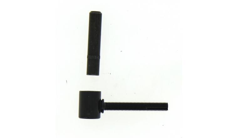 Gond à Scellement Chimique en Acier Noir Ø 14 - L80 mm Ref 650060 - Industrielle de Sedan