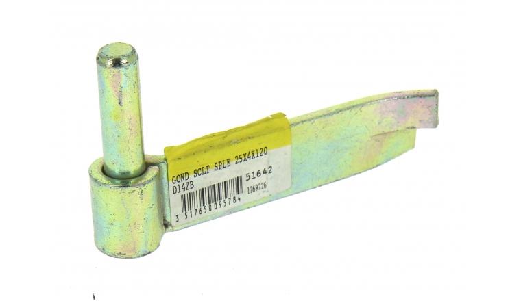 Gond à Sceller Simple Feuille en Acier Bichromaté Ø 14 - 45 mm - L120 mm