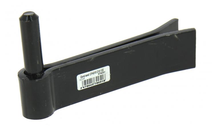 Gond à Sceller Double Feuille en Acier Noir Ø 16 mm - 40x6mm - L160 mm Ref 579051 - Industrielle de Sedan