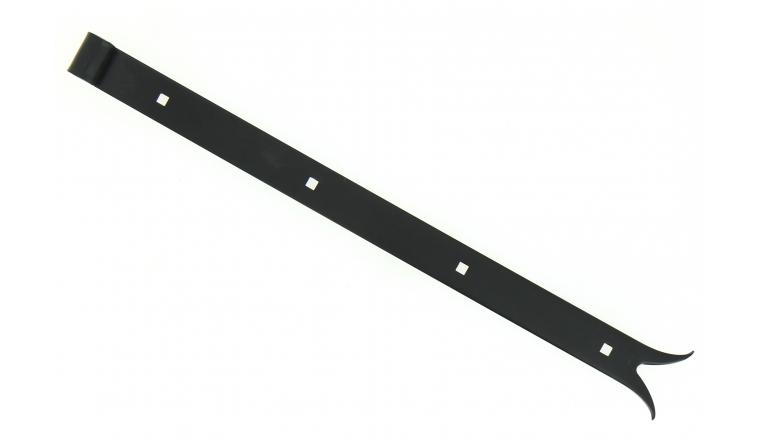 Penture à Queue de Carpe en Acier Noir Ø 14 mm - 35x4 mm - L500 mm - Ref 623360 - Industrielle de Sedan