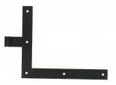 Penture Equerre à Bouts Droits en Acier Noir Ø 14 mm - Droite - 35x4 mm - H250 mm L300 mm - Ref 624590 - Industrielle de Sedan