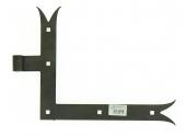 Penture Equerre à Queue de Carpe en Acier Noir Ø 14 mm - Droite - 35x4 mm - H250 mm L300 mm -Ref 624595 - Industrielle de Sedan