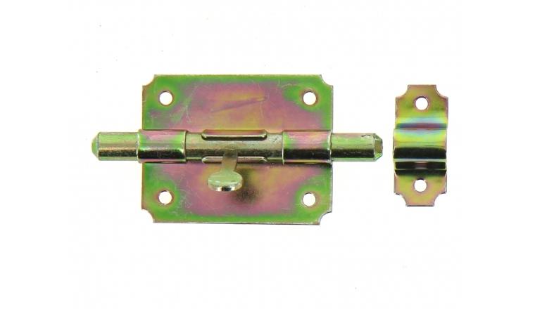 Verrou de Box Sans Porte-Cadenas en Acier Bichromaté Ø 12 mm - 80x62 mm - Ref 521211 - Industrielle de Sedan