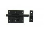 Verrou de Box Avec Porte-Cadenas en Acier Noir Ø 12 mm - 80x65 mm - Ref 524301 - Industrielle de Sedan