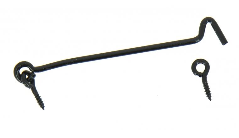 Crochet de contrevent en Acier Noir Ø 6 mm - L200 mm - Ref 8177200 - Industrielle de Sedan