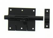 Verrou de Box Avec Porte-Cadenas en Acier Noir Ø 16 mm - 95x82 mm - Ref 524321 - Industrielle de Sedan
