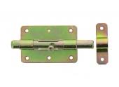 Verrou de Box Sans porte-Cadenas en Acier Bichromaté Ø 14 mm - 90x60 mm - Ref 521221 - Industrielle de Sedan