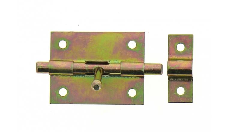 Verrou de Box Sans porte-Cadenas en Acier Bichromaté Ø 8 mm - 90x46 mm - Ref 521200 - Industrielle de Sedan