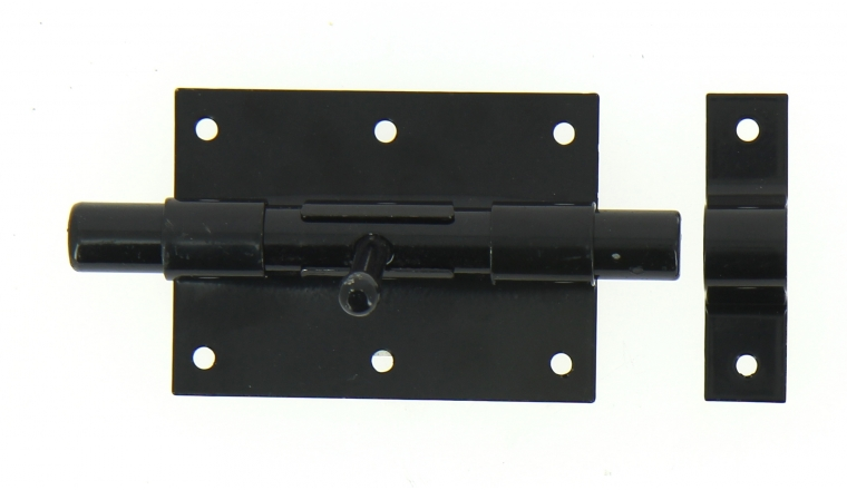 Verrou de Box Sans porte-Cadenas en Acier Noir Ø 16 mm - 95x70 mm - Ref 524231 - Industrielle de Sedan