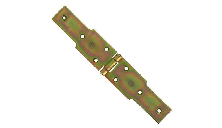 Charnière à Congés en Acier Bichromaté - 50x3.5 mm - L140 mm + L140 mm - Ref 542340 - Industrielle de Sedan