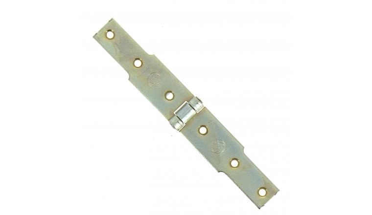 Charnière à Congés en Acier Bichromaté - 30x2.5 mm - L100 mm + L100 mm - Ref 542320 - Industrielle de Sedan