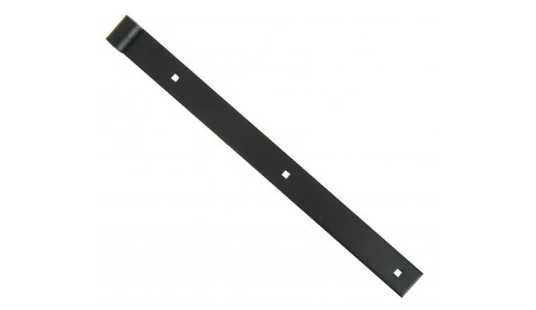 Penture à Bouts Droits en Acier Noir Ø 14 mm - 35x4 mm - L400 mm