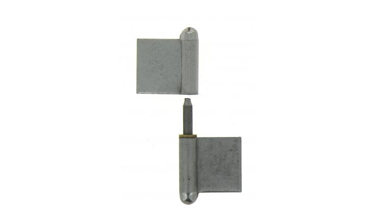 Paumelle de Grilles à Souder en Acier Blanchi - 100x45 mm - Ref 535150 - Industrielle de Sedan