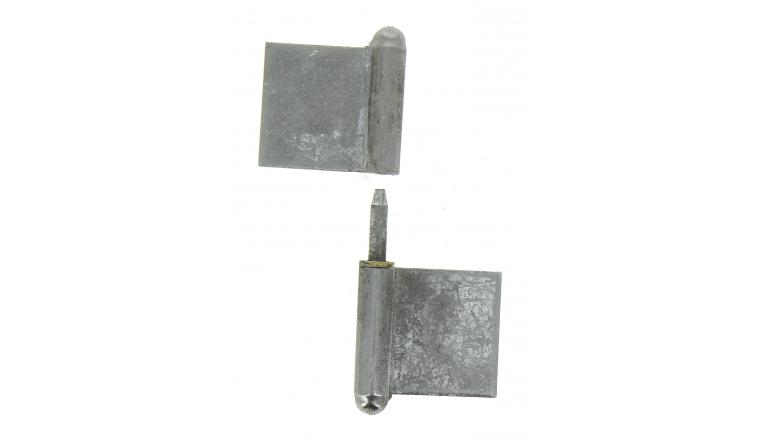 Paumelle de Grilles à Souder en Acier Blanchi - 120x60 mm  - Ref 535170 - Industrielle de Sedan
