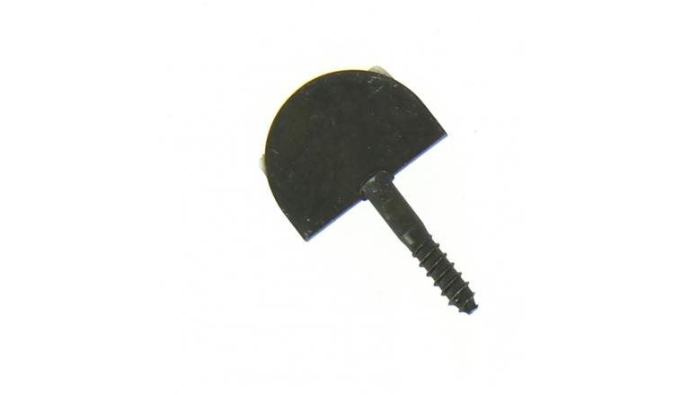 Butée de Volet Droite en Acier Noir - Tête Ronde - 25x3 mm - Ref 9251001 - Industrielle de Sedan