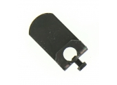 Butée de Volet Amovible en Acier Noir - 55x20x3 mm - Ref 9537010 - Industrielle de Sedan
