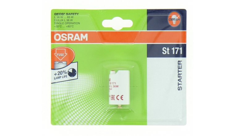 Starter Electronique de 36 à 65 W muni d\'un fusible DFOS SAFETY ST 171 - OSRAM