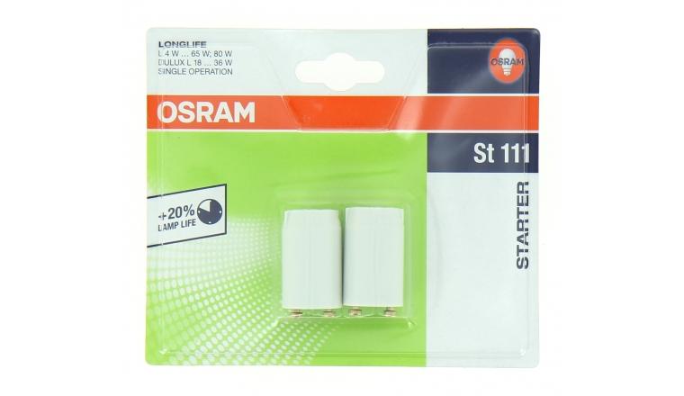 Lot de 2 Starters Universel de 18 à 36 W LONGFIFE ST 111 - OSRAM