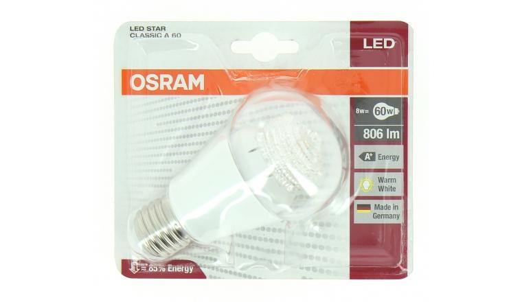 Lampe LED E27 Standard 60 W LED STAR CLASSIC - OSRAM