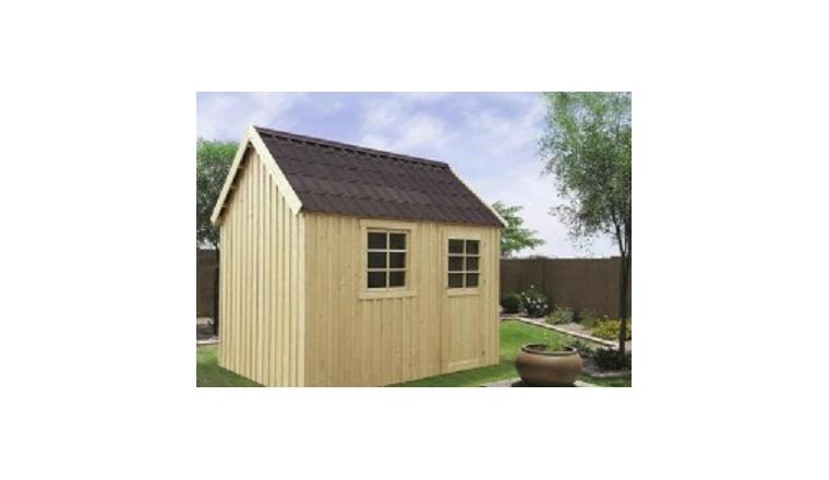 Abri de jardin en bois oleron solid m s8717 for Porte de jardin en bois brico