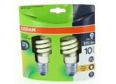 Lot de 2 Lampes Fluocompact E27 Tube 75 W DULUX SUPERSTAR Micro Twist - OSRAM