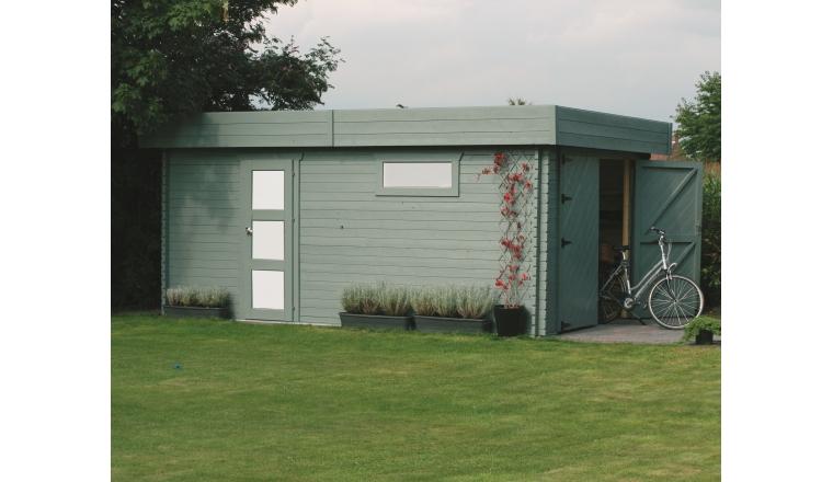 Garage en Bois MODERNE Solid 17.07 m² S8993