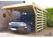 Carport en Bois Traité 1 véhicule CECIL Madeira 15.50 m² Ref 2476