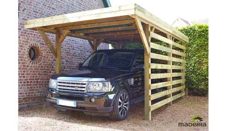 carport en bois trait cecil 15 50 m madeira. Black Bedroom Furniture Sets. Home Design Ideas