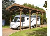 Carport en Bois Traité 1 Camping Car Madeira 32.40 m² Ref 2480