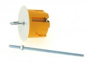 Boîte Luminaire pour Cloison Sèche sans Douille - 62 x 50 mm - Tige Fileté - Ref 718910 - DEBFLEX