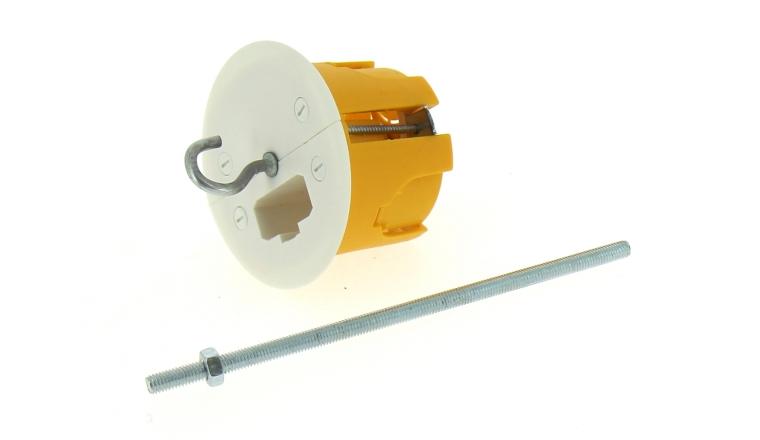 Boîte Luminaire pour Cloison Sèche Sans Douille - 60 x 50 mm - Tige Fileté - Ref 718920 - DEBFLEX