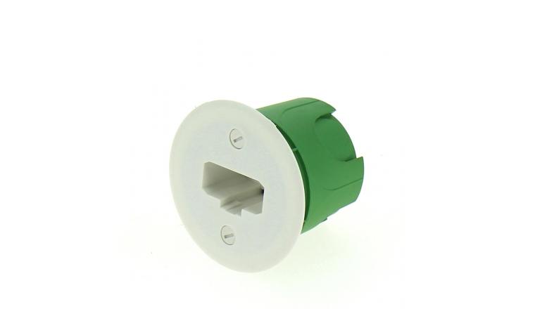Boîte Luminaire pour Cloison Pleine Sans Douille - 54 x 50 mm - Ref 718980 - DEBFLEX