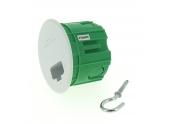 Boîte Luminaire pour Cloison Pleine Sans Douille - 65 x 50 mm - Ref 120197