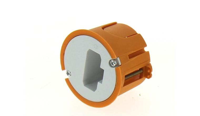 Boîte Luminaire pour Cloison Sèche Sans Douille - 54 x 40 mm - Ref 120189