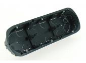 Boîte d\'Encastrement Triple Multimétiaux - 67 x 40 mm - Entraxe 71 mm - Ref 718753 - DEBFLEX