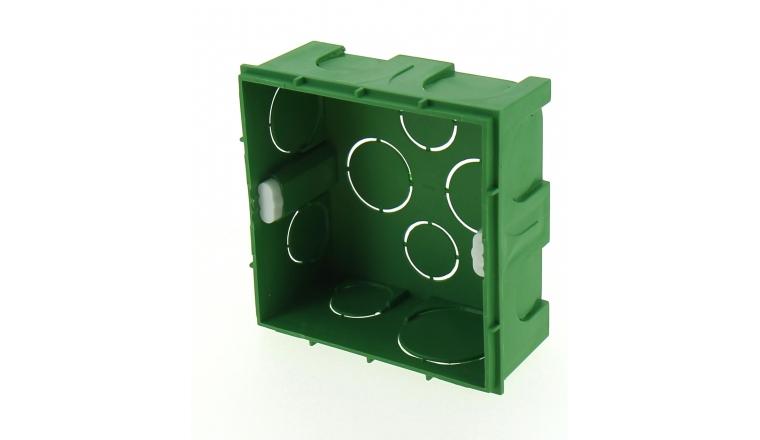 Boîte d\'encastrement Carré Simple pour Cloison Pleine - 90 x 90 x 40 mm - Ref 718440 - DEBFLEX