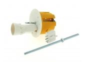 Boîte Luminaire pour Cloison Sèche Avec Douille - 60 x 50 mm - Douille B22d -Tige Fileté - Ref 718925 - DEBFLEX