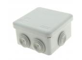 Boîte de Dérivation Etanche IP55 - 7 Entrées - 80 x 80 x 45 mm - Ref 718020 - DEBFLEX